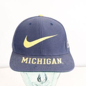 90s Nike Michigan Wolverines Big Swoosh Logo Hat